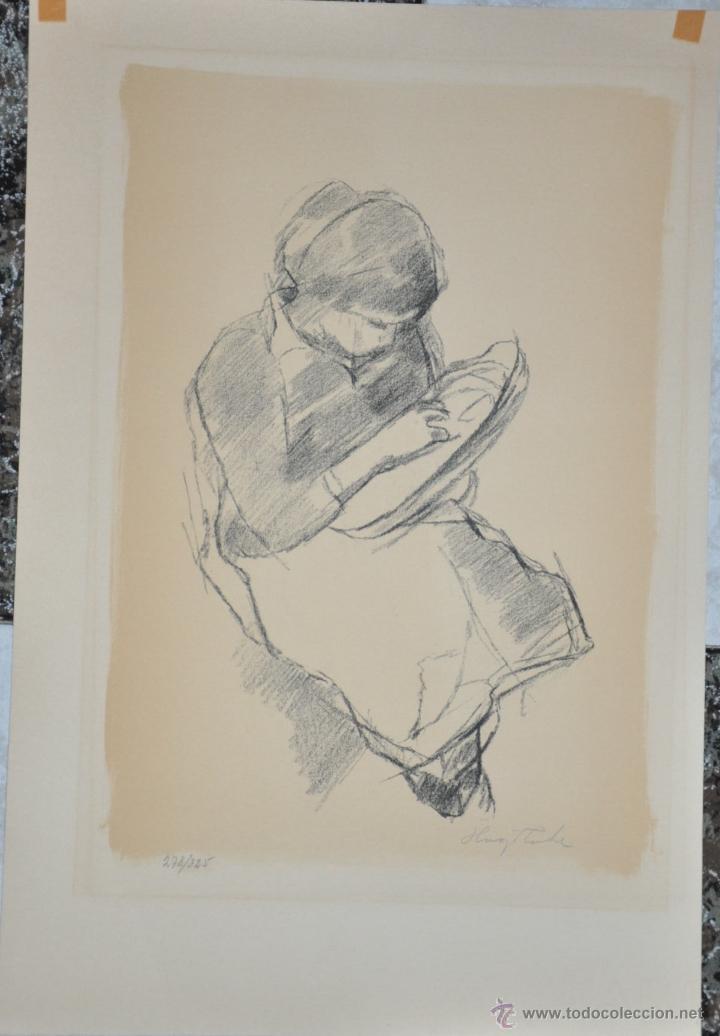 HUGO ZUHR LITOGRAFIA ORIGINAL FIRMADA Y NUMERADA A LAPIZ , AUTOR DE FINLANDIA (Arte - Litografías)