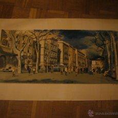 Arte: LITOGRAFIA DE FREDERIC LLOVERAS: - LA RAMBLA DE BARCELONA - (FIRMADA Y NUMERADA). Lote 47075429