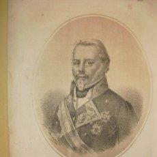 Arte: 1870 LITOGRAFIA DEL GENERAL EVARISTO SAN MIGUEL. Lote 47083625