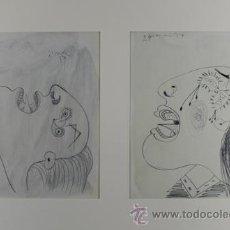 Arte: PICASSO CARAS DE MUJER ESTUDIO PARA EL GUERNICA 4 EDICIÓN FACSÍMIL 1000 EJEMPL. SELLO SPADEM. Lote 47251087
