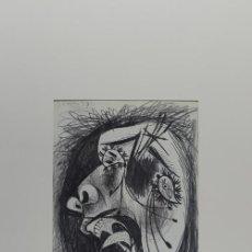 Arte: PICASSO HOMBRE ATERRORIZADO ESTUDIO PARA EL GUERNICA 8 EDICIÓN FACSÍMIL 1000 EJEMPL SELLO SPADEM. Lote 47253152