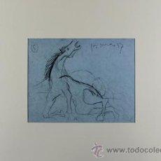 Arte: PICASSO CABALLO ASUSTADO ESTUDIO PARA EL GUERNICA 11 EDICIÓN FACSÍMIL 1000 EJEMPLARES SELLO SPADEM. Lote 47254081