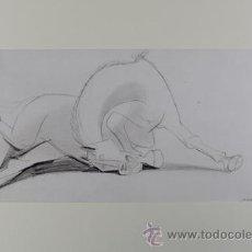 Arte: PICASSO CABALLO RECOSTADO ESTUDIO PARA EL GUERNICA 16 EDICIÓN FACSÍMIL 1000 EJEMPLARES SELLO SPADEM. Lote 47255200