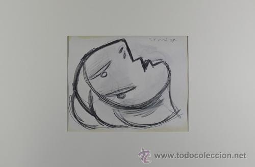 PICASSO CABEZA DE MUJER ESTUDIO PARA EL GUERNICA 17 EDICIÓN FACSÍMIL 1000 EJEMPLARES SELLO SPADEM (Arte - Litografías)