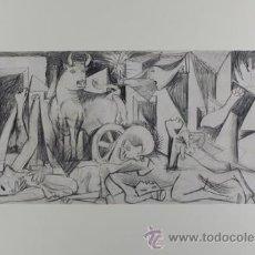 Arte: PICASSO VERSIÓN CASI DEFINITIVA ESTUDIO PARA EL GUERNICA 18 EDICIÓN FACSÍMIL 1000 EJEMP SELLO SPADEM. Lote 47255527