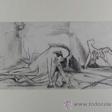 Arte: PICASSO TORO CABALLO Y MUJER ESTUDIO PARA EL GUERNICA 20 EDICIÓN FACSÍMIL 1000 EJEMPLAR SELLO SPADEM. Lote 47256332