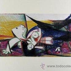 Arte: PICASSO MUJER ATERRORIZADA COLOR ESTUDIO PARA EL GUERNICA 21 EDICIÓN FACSÍMIL 1000 EJEM SELLO SPADEM. Lote 47256465