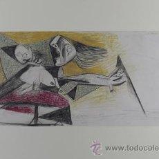 Arte: PICASSO MUJER ATERRORIZADA COLOR ESTUDIO PARA EL GUERNICA 22 EDICIÓN FACSÍMIL 1000 EJEM SELLO SPADEM. Lote 47256581
