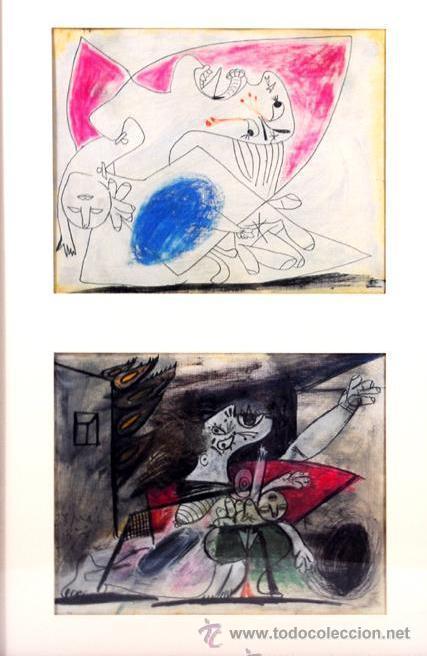 PICASSO MUJER ATERRORIZADA COLOR ESTUDIO PARA EL GUERNICA 23 EDICIÓN FACSÍMIL 1000 EJEM SELLO SPADEM (Arte - Litografías)