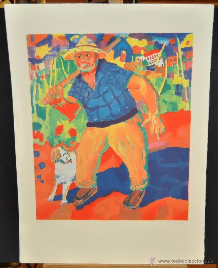 RAMÓN SANVISENS I MARFULL (BARCELONA, 1917-1987) LITOGRAFÍA FIRMADA POR EL ARTISTA. 53/225 (Arte - Litografías)