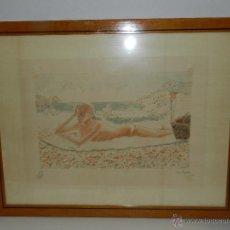 Arte: (M) LITOGRAFIA NUMERADA FRANCESC ARTIGAU , LITOGRAFIA NUMERO 297/300 , ARTIGAU 85. Lote 47557489