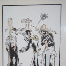Arte: DIBUJO DE JUNCEDA - LITOGRAFÍA COLOREADA A ACUARELA - CALIDAD - ENMARCADA. Lote 47563954