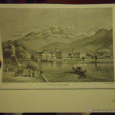 Arte: LITOGRAFIA O GRABADO - LUGANO HACIA 1860. Lote 48680454