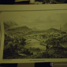 Arte: LITOGRAFIA O GRABADO - BAD ISCHL HACIA 1855. Lote 48680471