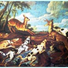 Arte: - CACERIA DE CORZOS- OBRA DE P. DE VOS. REPRODUCCIÓN EN LAMINA DE 58,5 X 46,5 CM TODO COLOR. NUEVA.. Lote 48826625