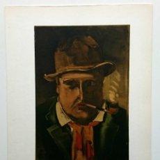 Arte: MAURICE DE VLAMINCK (1876-1958) LITOGRAFÍA DE INTERPRETACIÓN MOURLOT (1958).31X24,5 CM. AUTORRETRATO. Lote 49427130