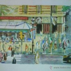 Arte: LITOGRAFÍA TITULADA QUIOSC A LES RAMBLES ORIGINAL DE SIMÓ BUSOM. Lote 49200823