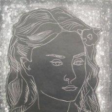 Arte: FRITZ KRONENBERG: NINFA, 1952 / FIRMADA A LAPIZ / GALERIE VALENTIEN. Lote 49202108