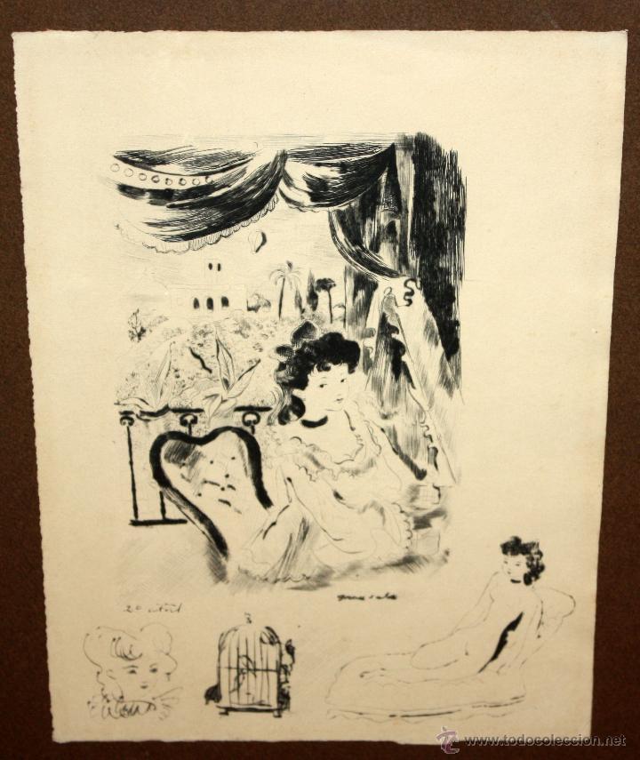 Arte: EMILI GRAU SALA (BARCELONA, 1911- PARÍS, 1975) LITOGRAFÍA ORIGINAL DE LOS AÑOS 30 - Foto 2 - 49412368