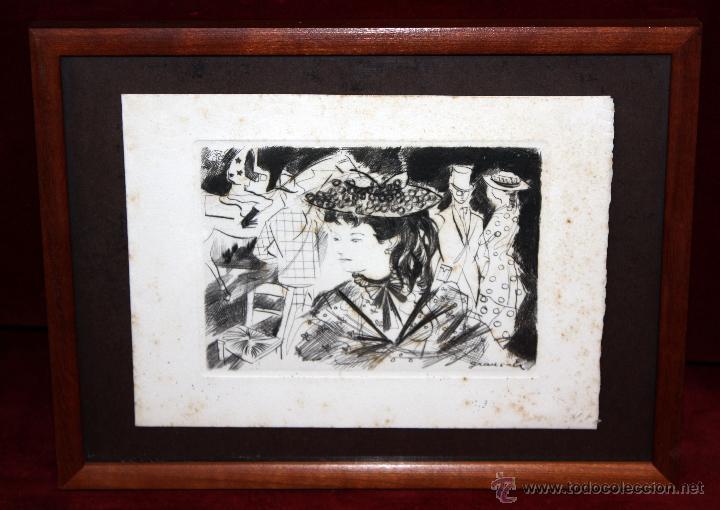 EMILI GRAU SALA (BARCELONA, 1911- PARÍS, 1975) GRABADO ORIGINAL FIRMADO A PLANCHA (Arte - Litografías)