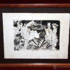 Arte: EMILI GRAU SALA (BARCELONA, 1911- PARÍS, 1975) GRABADO ORIGINAL FIRMADO A PLANCHA. Lote 49412391
