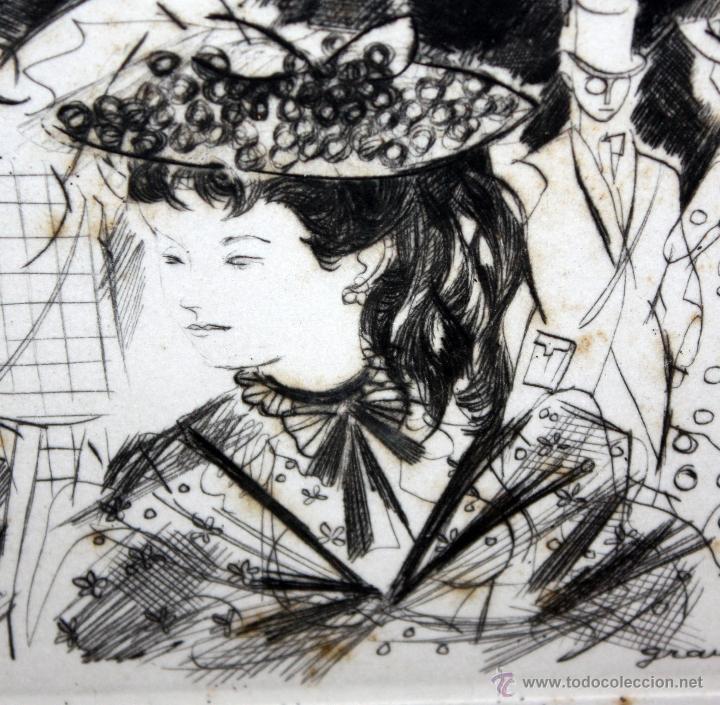 Arte: EMILI GRAU SALA (BARCELONA, 1911- PARÍS, 1975) GRABADO ORIGINAL FIRMADO A PLANCHA - Foto 3 - 49412391