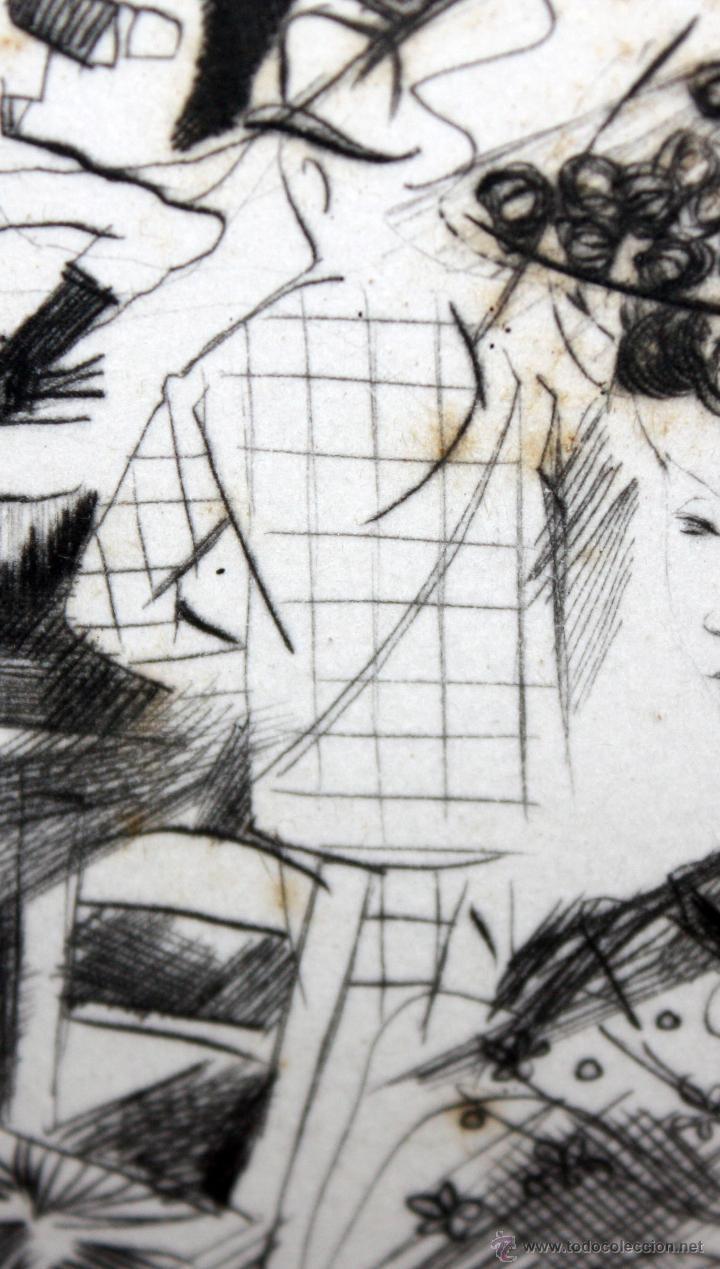 Arte: EMILI GRAU SALA (BARCELONA, 1911- PARÍS, 1975) GRABADO ORIGINAL FIRMADO A PLANCHA - Foto 5 - 49412391