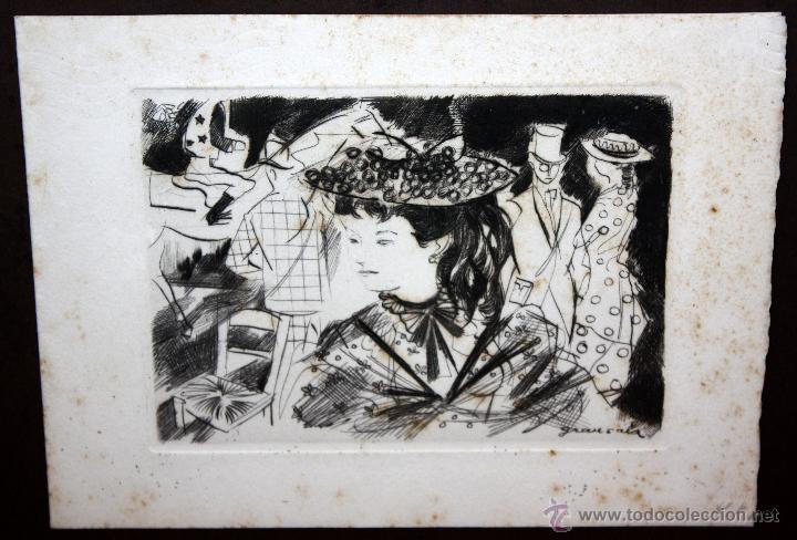 Arte: EMILI GRAU SALA (BARCELONA, 1911- PARÍS, 1975) GRABADO ORIGINAL FIRMADO A PLANCHA - Foto 9 - 49412391