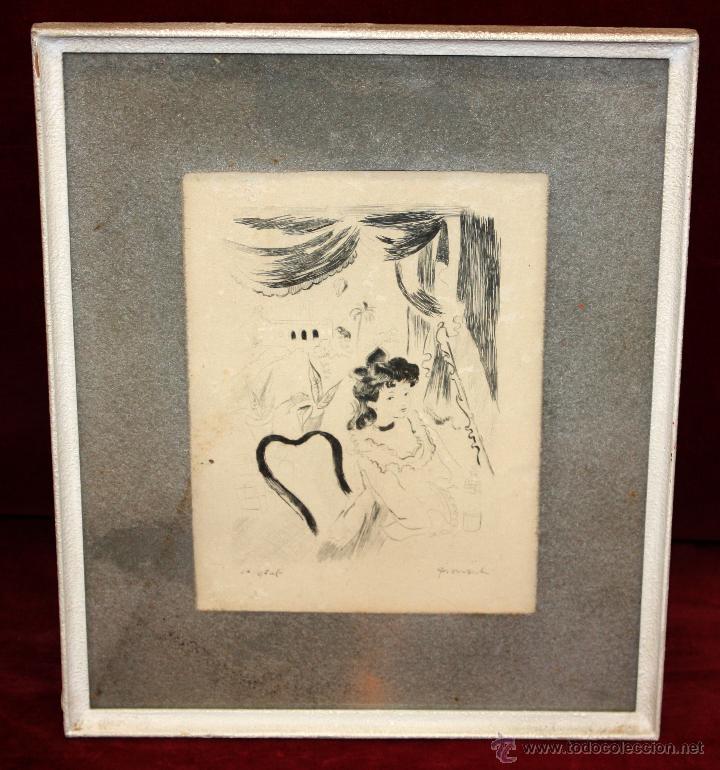 EMILI GRAU SALA (BARCELONA, 1911- PARÍS, 1975) LITOGRAFÍA ORIGINAL DE LOS AÑOS 30 (Arte - Litografías)