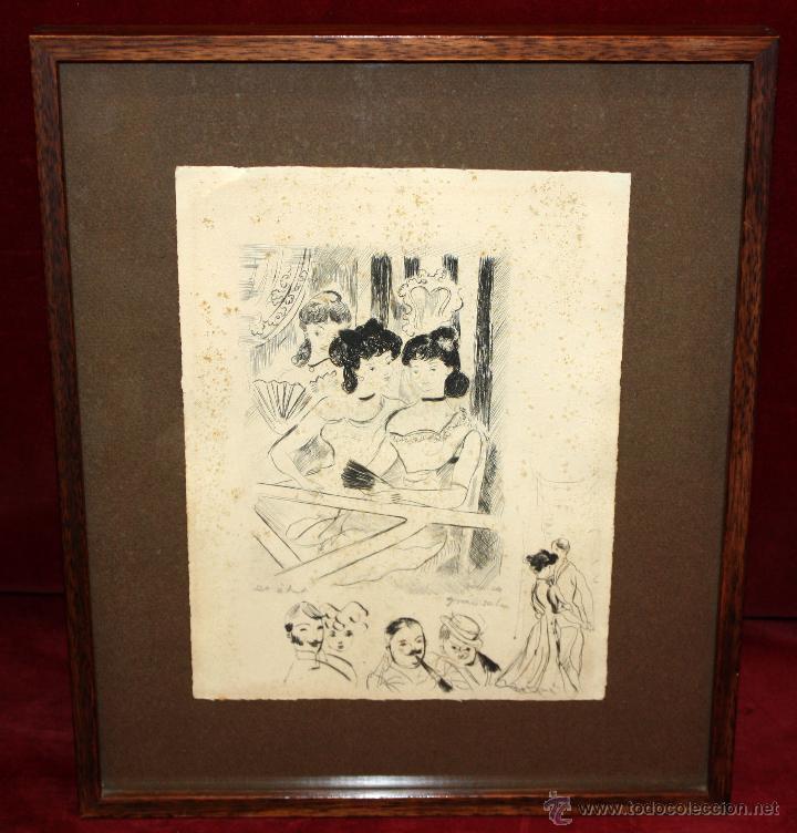 EMILI GRAU SALA (BARCELONA, 1911- PARÍS, 1975) LITOGRAFÍA ORIGINAL DE LOS AÑOS 50 FIRMADA A LÁPIZ (Arte - Litografías)