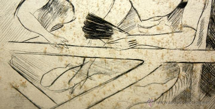 Arte: EMILI GRAU SALA (BARCELONA, 1911- PARÍS, 1975) LITOGRAFÍA ORIGINAL DE LOS AÑOS 50 FIRMADA A LÁPIZ - Foto 3 - 49664095