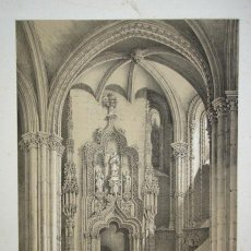 Arte: CATEDRAL DE TOLEDO, PUERTA DE LA SALA CAPITULAR. LITOGRAFÍA DE GENARO PÉREZ DE VILLA AMIL. Lote 49881166