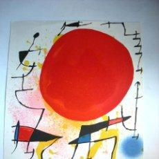 Arte: JOAN MIRÓ - LE SOLEIL ROUGE . Lote 50019259