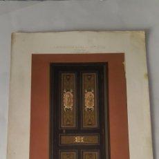 Arte: ARQUITECTURA - L'ARCHITECTURE PRIVEE AU XIX SIECLE - PETIT CABINET DE TRAVAIL. Lote 50131835