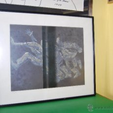 Arte: LITOGRAFÍA ORIGINAL - FIRMADA Y NUMERADA - HOMBRES. Lote 50186273