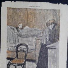 Arte: KEES VAN DONGEN / 2 LITOGRAFÍAS / REVISTA L´ASSIETTE AU BEURRE / 1901. Lote 50719236