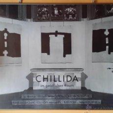 Arte: EDUARDO CHILLIDA: ESPACIO SAGRADO-SAN JUAN DE LA CRUZ / CARTEL FIRMADO A MANO, 1993/94. Lote 50755820