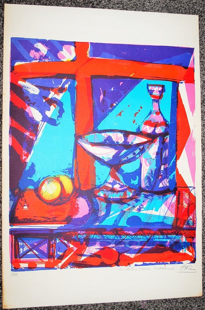 MIQUEL IBARZ. LITOGRAFÍA ORIGINAL 1980. BODEGÓN. (Arte - Litografías)