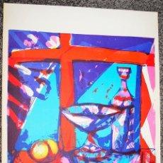 Arte: MIQUEL IBARZ. LITOGRAFÍA ORIGINAL 1980. BODEGÓN. . Lote 50983591