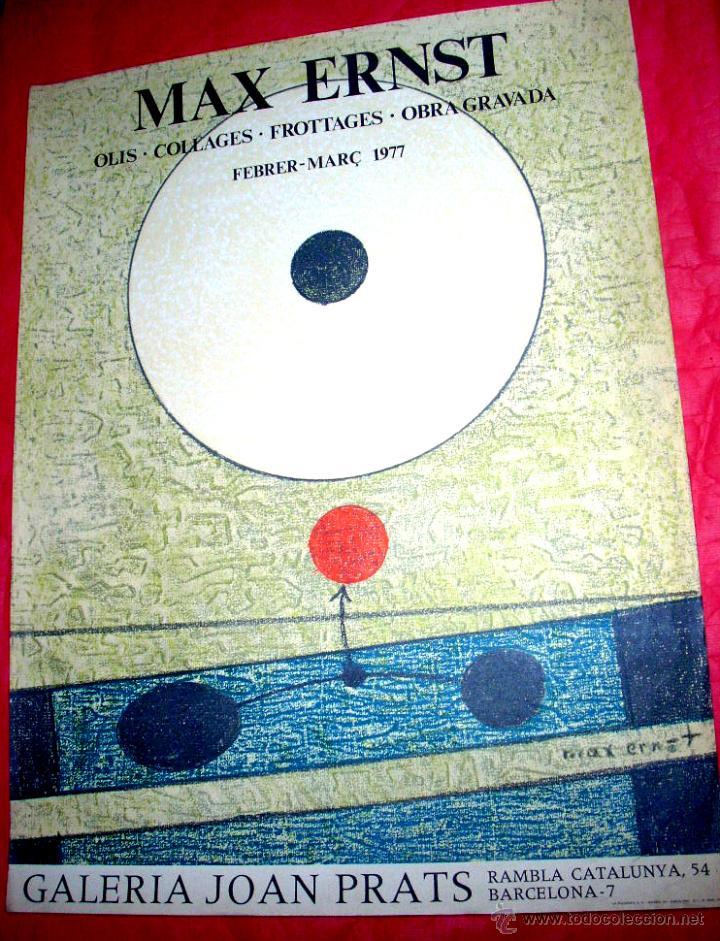 MAX ERNST / GALERÍA JOAN PRATS - 1977. EDICIÓN LA POLÍGRAFA (Arte - Litografías)