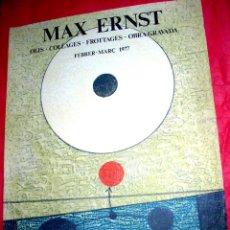 Arte: MAX ERNST / GALERÍA JOAN PRATS - 1977. EDICIÓN LA POLÍGRAFA . Lote 51283915