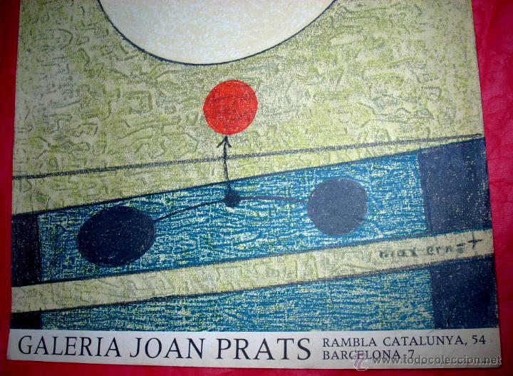 Arte: MAX ERNST / GALERÍA JOAN PRATS - 1977. EDICIÓN LA POLÍGRAFA - Foto 2 - 51283915