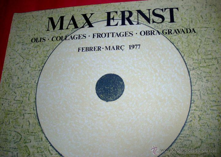 Arte: MAX ERNST / GALERÍA JOAN PRATS - 1977. EDICIÓN LA POLÍGRAFA - Foto 3 - 51283915