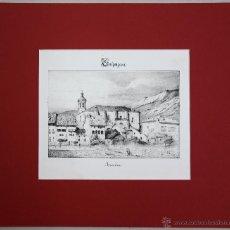 Arte: ESTAMPA LITOGRAFICA DE LA VILLA DE AZCOITIA. GUIPUZCOA. AÑO 1844. Lote 51302134