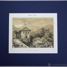 Arte: ESTAMPA LITOGRAFICA VISTA PANORAMICA HOSPITAL CIVIL DE DIMA. BIZKAIA. CIRCA 1846. Lote 51307987