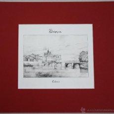 Arte: ESTAMPA LITOGRAFICA VISTA PANORAMICA DE TOLOSA. GUIPUZCOA. AÑO 1844. Lote 51308399