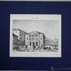 Arte: ESTAMPA LITOGRAFICA VISTA PANORAMICA DEL TEATRO DE BILBAO (ARRIAGA). CIRCA 1846. Lote 52155731