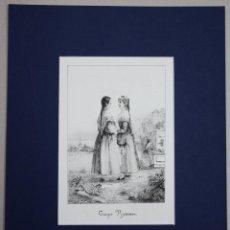 Arte: ESTAMPA LITOGRAFICA TRAJES VIZCAINOS. AÑO 1844. Lote 51310359
