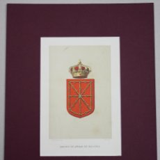 Arte: LITOGRAFIA ESCUDO DE ARMAS DE NAVARRA. AÑO 1879. Lote 51310898