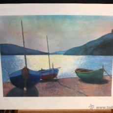 Arte: GUILLEM VILLA BASSOLS (BARCELONA, 1917 - 2001) LITOGRAFIA ORIGINAL FIRMADA A LAPIZ. Lote 51359308